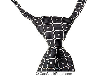tie knot isolated on white background - the tie knot...