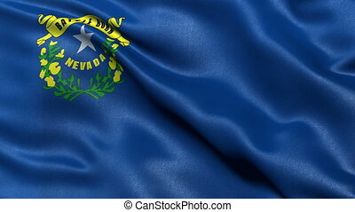Nevada state flag seamless loop - Realistic Nevada state...