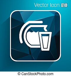 Glass pitcher logo vector icon compote juice