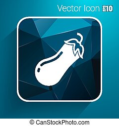 Icon of eggplant Logo label icon vector.