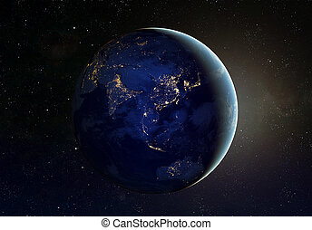 Space - Our earth in cosmos. Elements of this image...