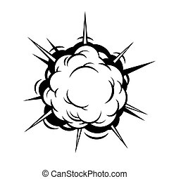 Comic Boom Explosion Vector - Comic Boom Black Explosion on...