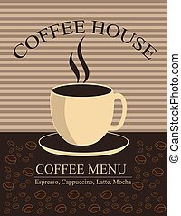 Coffee house - Menu for restaurant, cafe, bar, coffee house