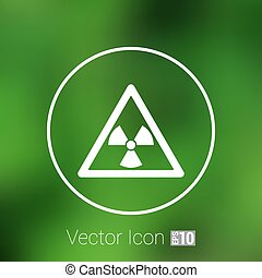 sign radiation vector icon caution nuclear atom power