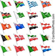 3D International Flags Set 2