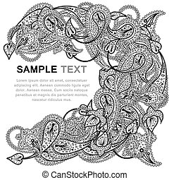 Paisley pattern with frame