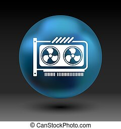 GPU or Computer graphic card icon component