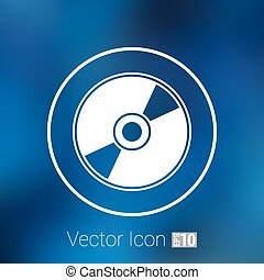 Vector CD or DVD icon disc vector compact disk audio media
