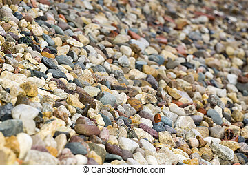 Wet Stones - Various colorful wet pebbles texture as natural...