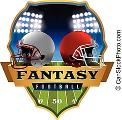 American Fantasy Football Emblem Illustration - An...