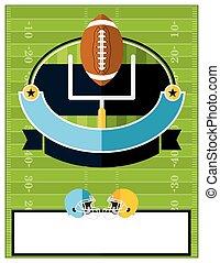 American Football Flyer Illustration