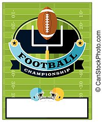 American Football Championship Flyer Illustration - A flat...