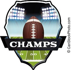 American Football Champs Badge Illustration - An...