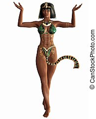 Queen of the Nile - Egyptian 3D Figure - 3D Render of an...