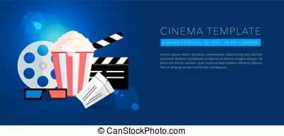 cinema template background vector - cinema template...