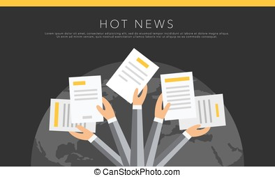 Hot news vector background - Hot news vector template...