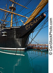 Esmeralda - Replica of the Chilean Navy ship Esmeralda that...