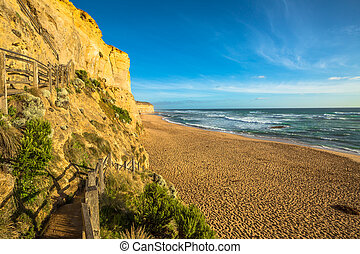 Port Campbell Victoria - The high cliffs of Gibson Steps...