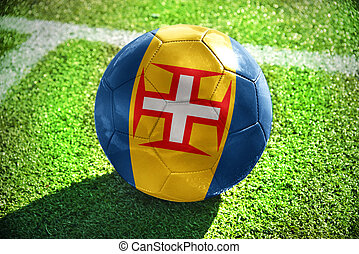 football ball with the national flag of madeira on the field...