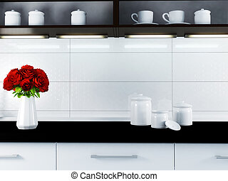 a part of kitchen interior