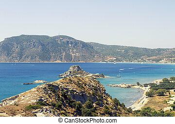 kefalos, wyspa, Mały,  kastri, Wieś