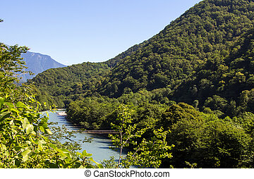 Image of mountain river in the summer