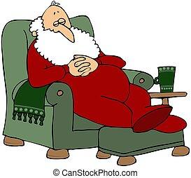 Santa Taking A Nap