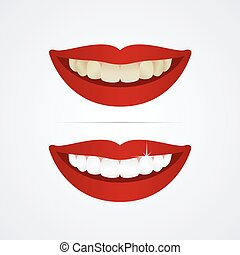 Whitening teeth illustration - Whitening teeth vector...