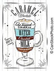 Poster caramel macchiato - Poster coffee caramel macchiato...