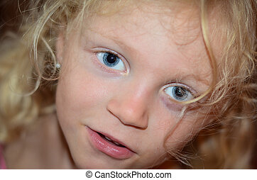 girl with big blue eyes