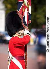 Guard - Changing the guard ceremony on Buckingham palace