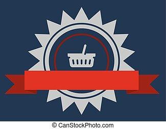 Vector shopping badge
