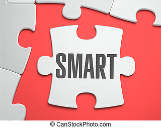 Smart - Puzzle on the Place of Missing Pieces - Smart - Text...