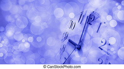 Wake up sleepy head - Motion blur clock face showing 9...