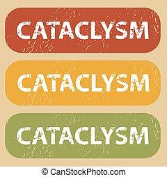 Vintage CATACLYSM stamp set