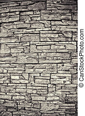Texture of old stone wall close up
