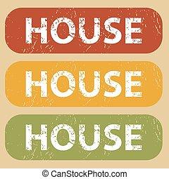 Vintage HOUSE stamp set