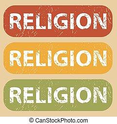 Vintage RELIGION stamp set