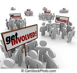 conseguir, implicado, gente, participar, compromiso,...