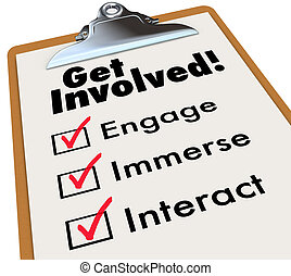 Get Involved Clipboard Checklist Join Group Activity...