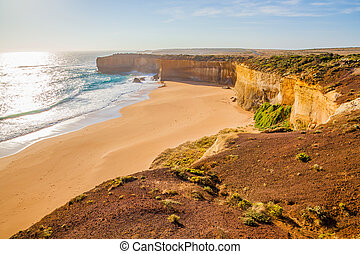 Port Campbell National Park - The beach of London Arch, a...