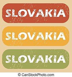 Vintage Slovakia stamp set