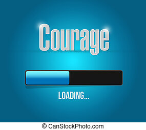 chargement,  courage,  concept, barre, signe