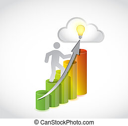 clime to the top business concept illustration design...