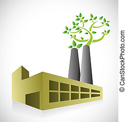 eco factory concept illustration design