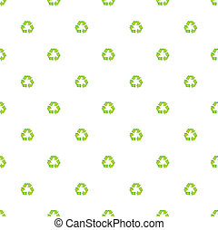 green recycle symbol pattern background