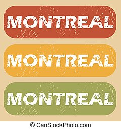 Vintage Montreal stamp set - Set of rubber stamps with city...