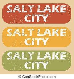 Vintage Salt Lake City stamps