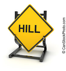Road sign - hill