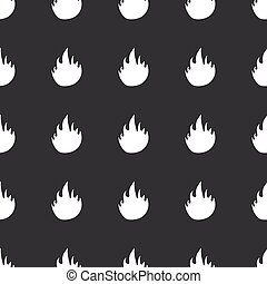 Straight black fire pattern - White image of flame repeated...